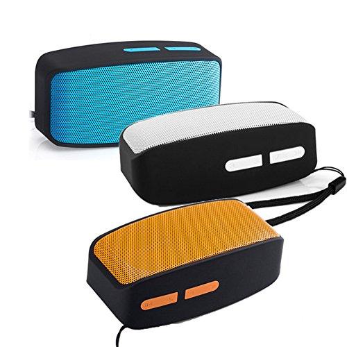 FafSgwq Mini-Bluetooth-USB-Dual-Lautsprecher Freisprechen MP3-Player-Audio OrangeNone