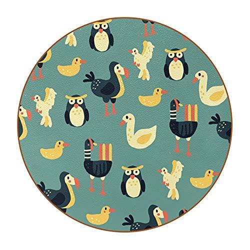 Animal Owl Bird4.7.6 cm posavasos de taza grande, antimanchas, cristal antiarañazos y antideslizante, un juego de 6 absorbentes