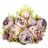 Luyue - Ramo de flores artificiales de seda para decoración del hogar, boda, color rosa