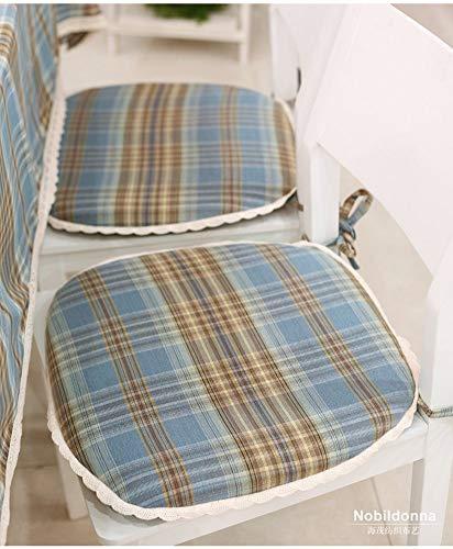 YLCJ kussen voor Amerikaanse landelijke stoelen, Student stoel kussen Pu doek wasbaar kussen Plaid kussen-A 45x43cm (18x17inch)