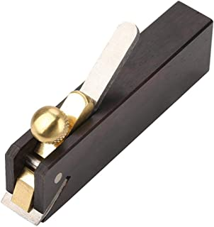Portable Wood Hand Planer Ebony Mini DIY Cable-line Woodworking Plane Carpenter Wood Cutting Tool for Trimming Chamfering Edge Sloping