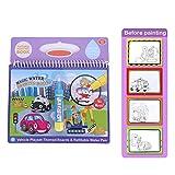 Tnfeeon Magic Water Malbuch Malbuch Doodle mit Pen Malbuch Bildung Zeichnung Spielzeug für Kinder Kleinkinder(Vehicle) -