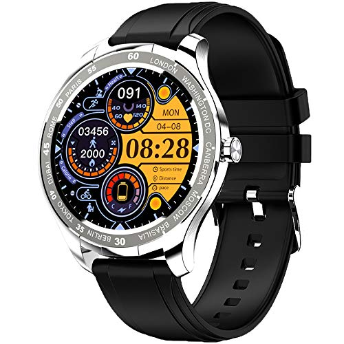 PHIPUDS Smartwatch Orologio Fitness Uomo Donna Impermeabile IP68 Smart Watch Cardiofrequenzimetro da Polso Contapassi Smartband Activity Tracker Bambini Cronometro per Android iOS