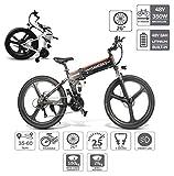 *Coolautoparts Bicicleta Elèctrica PLEGABLE 350W/500W 26 Polzades per a Homes Dones /Bicicleta de muntanya/ e-*Bike Alumini 48V 10AH Bateria *Shimano 21 Velocitats Frens de Disc [EU Estoc ]