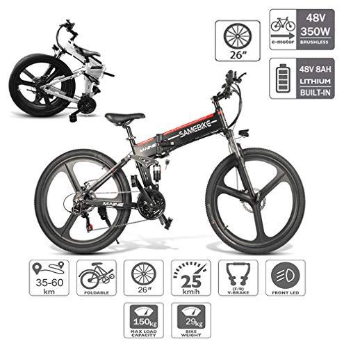 Coolautoparts Bicicleta Eléctrica PLEGABLE 350W/500W 26 Pulgadas para Hombres Mujeres de Aluminio Bicicleta de Montaña/Carretera/Ciudad con 48V 10AH Batería Removible Shimano 21 Velocidades [EU Stock]