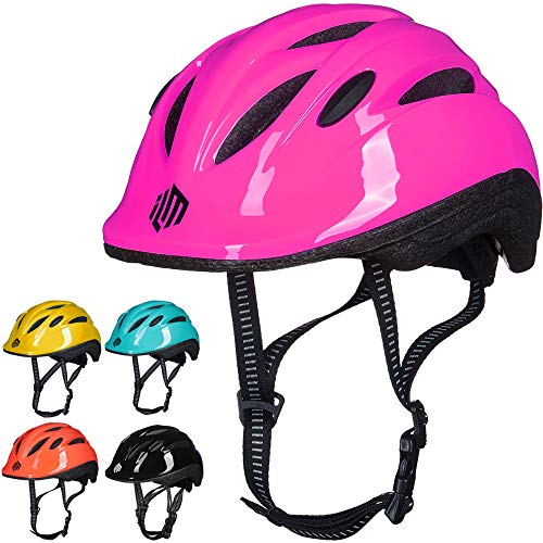 ILM Kids Youth Bike Helmet Toddler Bicycle Cycling Helmet with Adjustable Dial for Boys and Girls (Pink, XX-Small/X-Small)