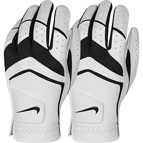 Nike Herren Dura Feel Golf Handschuh (2er Pack) (weiß), X-Large–Cadet, Linke Hand