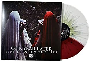 LIFE BETWEEN THE LIES WHITE/RED WITH GREEN SPLATTER Vinyl #/200