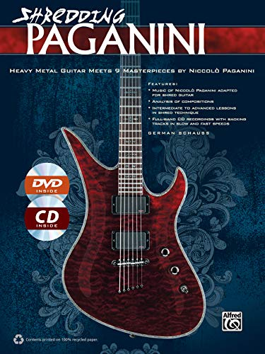 Shredding Paganini | Guitar | Book, CD & DVD (Shredding Styles)