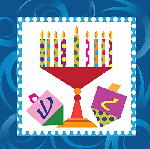 Hanukkah Party Supplies Luncheon or Dessert Napkins Pack of 40 Menorah Design