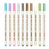 freneci 10PCS / Set de marcadores metálicos Glitter DIY Art Paint