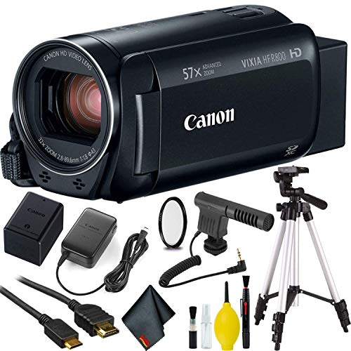Canon VIXIA HF R800 Camcorder (Black) with Microphone