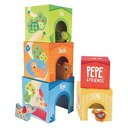 Hape International E0451 Pepe und Friends Stapelturm Spielzeug