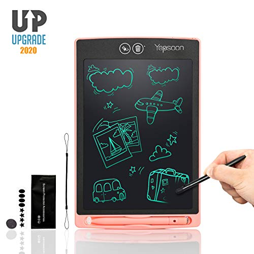 YEPSOON LCD Writing Tablet 12 inch Electronic Writing amp Drawing Doodle Board,FullampPartial Dual Erase ModeLock Screen Function Portable Reusable Magnetic Notepad Gift for Kids New Version of 2020