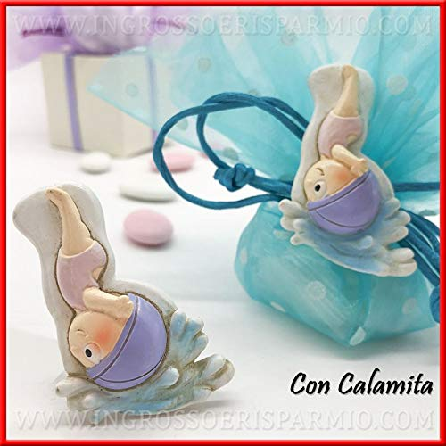 Ingrosso e Risparmio - 12 imanes de Resina con niña nadadora/buceadora en Disfraz Rosa, Ideales para Regalar a los niños