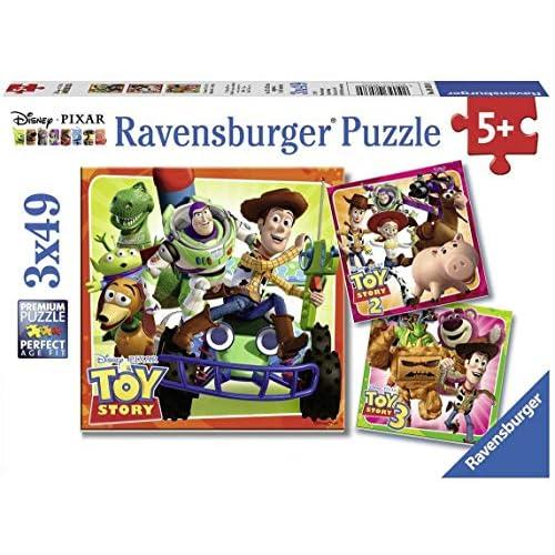 Ravensburger Italy- Disney Pixar Toy Story History Puzzle, 3x49 Pezzi, 08038