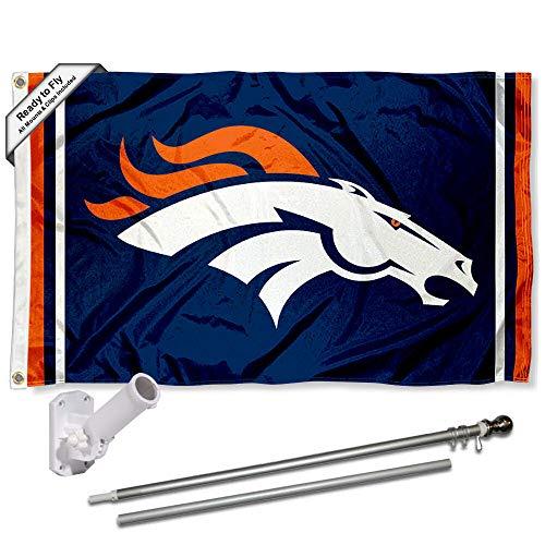 WinCraft Denver Broncos Flag Pole and Bracket Kit