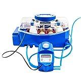 Borotto LUMIA 8 Expert - Incubatrice Professionale Brevettata, Materiale Termoisolante con Antibatterico, con Umidificatore Automatico Sirio - per 8 Uova Medio/Grandi o 32 uova piccole