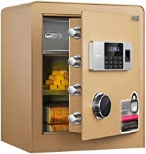Electronic Home Safe with Medium Fingerprint Password Bedside Table Household in-Cabinet Small Safe Box Office Thickened A...