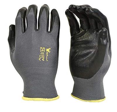 6 PAIRS Men's Working Gloves with Micro Foam Coating - Garden Gloves Texture Grip - men's Work Glove For general purpose, construction, yard work, Medium