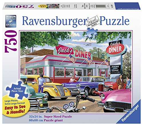 Ravensburger Meet You at Jack's 19938 750 Piece Large Pieces Jigsaw Puzzle for Adults, Every Piece is Unique, Softclick Technology Means Pieces Fit Together Perfectly