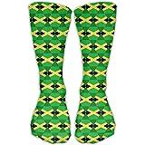 Calcetines clásicos para hombre y mujer, diseño de la bandera de Jamaica, 30 cm de largo para toda la temporada
