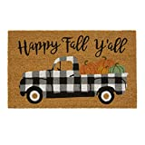 farmhouse truck natural door mat