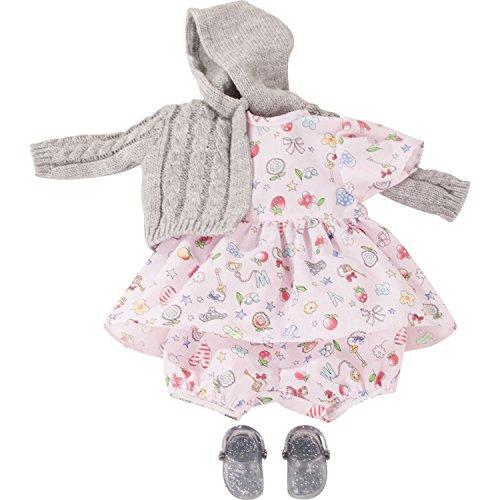 Götz 3402922 Kombination Villa Kunterbunt - Puppenbekleidung Gr. S - 4-teiliges Bekleidungs- und Zubehörset für Babypuppen von 30 - 33 cm
