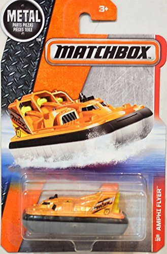 Matchbox Heroic Rescue Amphi Flyer Pontoon Boat Orange