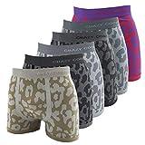 Crazy Cool Stretches Nylon Seamless Mens Boxer Briefs Underwear 6-Pack Set (Medium - Large, Animal Print-6Pack)