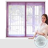 Mosquito silencer window screens, Full frame velcro magnetic screen door bedrooms screen door mesh snap shut automatically clothed screen door-D 100x100cm(39x39inch)