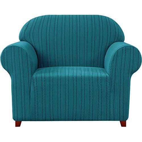 subrtex Funda elástica para sofá - A rayas de tres plazas