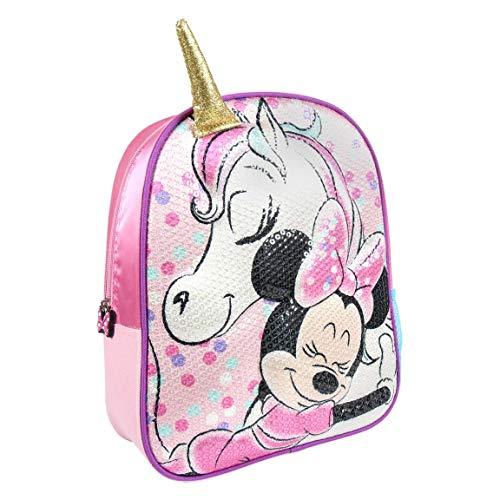 Disney | Minnie Mouse Zaino Borsa 3D | Design Esclusivo Con Paillettes | Ottimo Per Le Vacanze E Ritorno A Scuola! | Il Regalo Perfetto! | (Zaino Minnie Mouse e Unicorn)