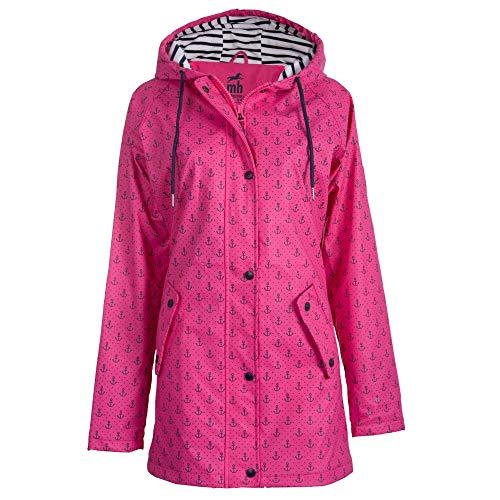 Michael Heinen Damen Regenjacke Regenmantel - Friesennerz Pink 40 - Winterjacke Wasserdicht Winddicht