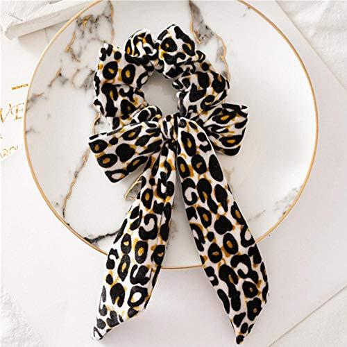 Fijnere vrouw luipaard boog haarbanden elastische lus paardenstaart banden scrunchies hoofdbanden hoofd slijtage haaraccessoires, AS287-1