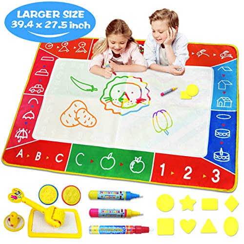 Water Doodle Mat, Larger(39.4 X 27.5 inch) Multicolored...