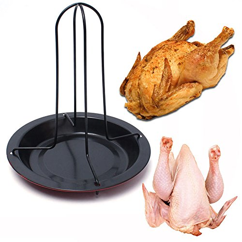 JackRuler Premium Chicken Duck Holder Rack Grill-Ständer für BBQ Rib Non Stick Kohlenstoffstahl als optimales Geschenk für Grillfans