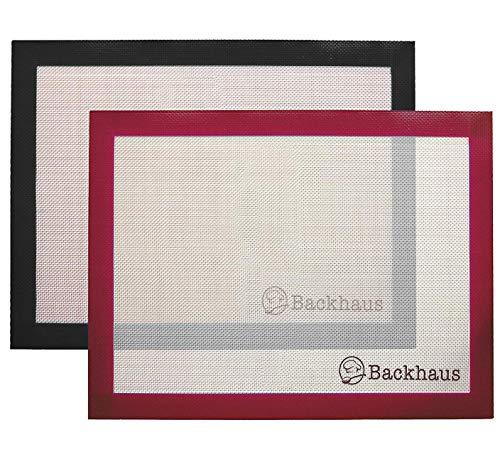 Backhaus ® Tapis de Cuisson Anti-Adhérent en Silicone et Fibre de Verre [Lot de 2], Feuille de Cuisson et Pâtisserie de Standard Restauration