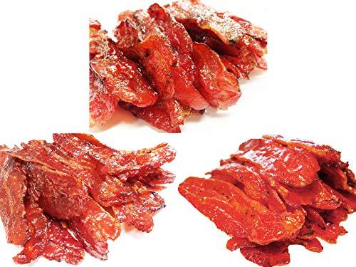Variety Pack #6 Bacon Jerky (12 Ounce weight) - Original Flavor Bacon (4 oz), Spicy Bacon (4 oz), Sriracha Bacon (4 oz)