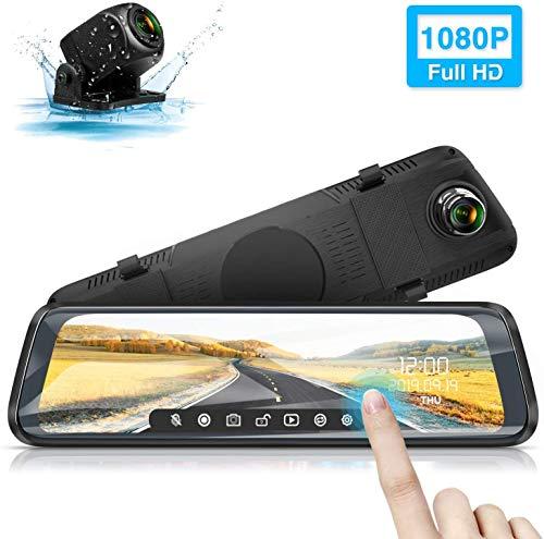 petit un compact Caméra de voiture, écran tactile de rétroviseur de voiture WiMiUS dash cam caméra FHD 1080P 10 pouces…
