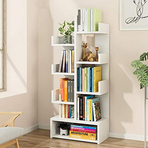 Bücherregal Moderne Wohnzimmer Arbeitszimmer Boden baumförmige Bücherregal Abstellflächen Buch-Speicher-Organisator, Bücher / CDs / Alben / Dateien Halter Perfekt für die Speicherung Bücher, Bürobedar