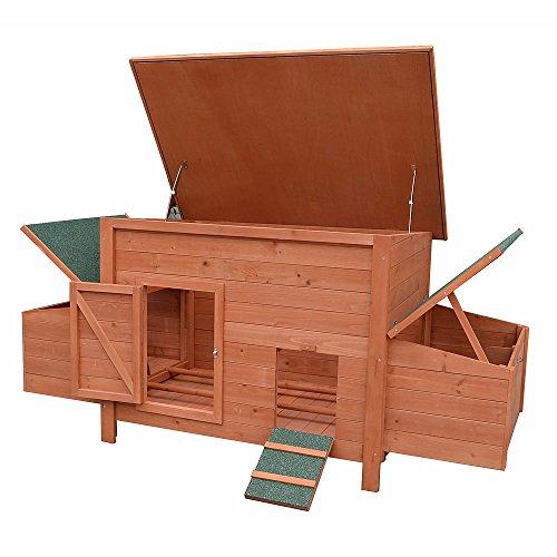 Hühnerstall / Hühnerhaus inkl. 2 Nestboxen ca. 179 x 80 x 75 - 2