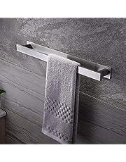 Ruicer Handdoekhouder bad zonder boren handdoekrail zelfklevende badhanddoekhouder roestvrij staal 40 cm