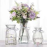 JINGANREN Glass Vases Set Modern Angled Simple Style...