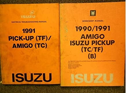 SHOP MANUAL ISUZU SERVICE REPAIR PICKUP AMIGO BOOK 1990 1991