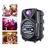 H HUKOER Karaoke Machine Subwoofer Bluetooth Karaoke Machine Home Music Player with Speaker