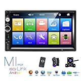 Hikity Double Din Car Stereo 7 Inch Touch Screen Radio Bluetooth FM Receiver