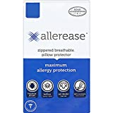 Aller-Ease Maximum Allergy Protector, King, 1-Pack – Hypoallergenic Pillow Cover, Zippered Design Prevents Collection of Bedbugs and Allergens, Machine Washable, 1 Pack