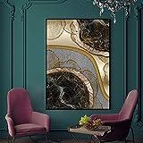 wtnhz Sin Marco Ins Style Fashion Canvas Painting Golden Years Carteles en la Pared HD Impresión artística para Sala de Estar Studio Abstract Home Decor