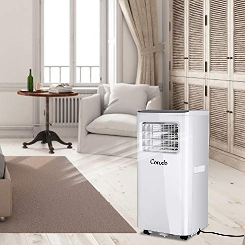Corodo 8000 btu Mobile Klimaanlage Mobiles Lokales Klimagerät, 2,1KW,Klima mit Montagematerial